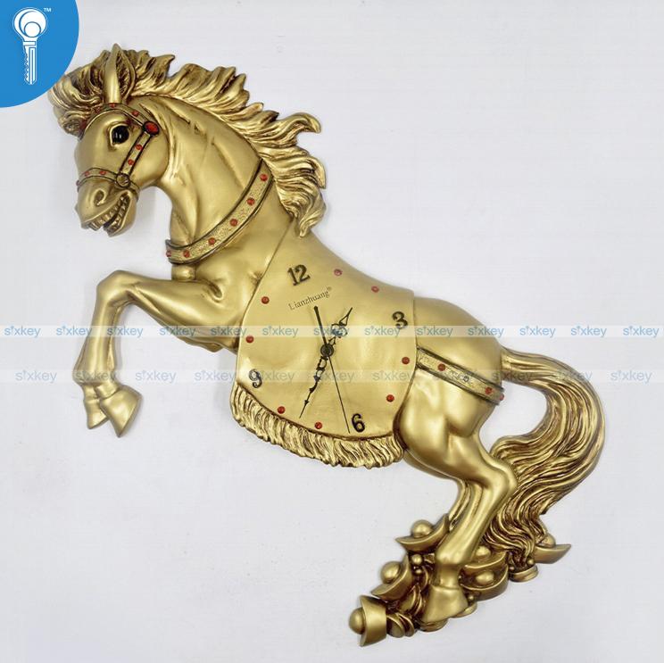 Sixkey Wall Clock Horse